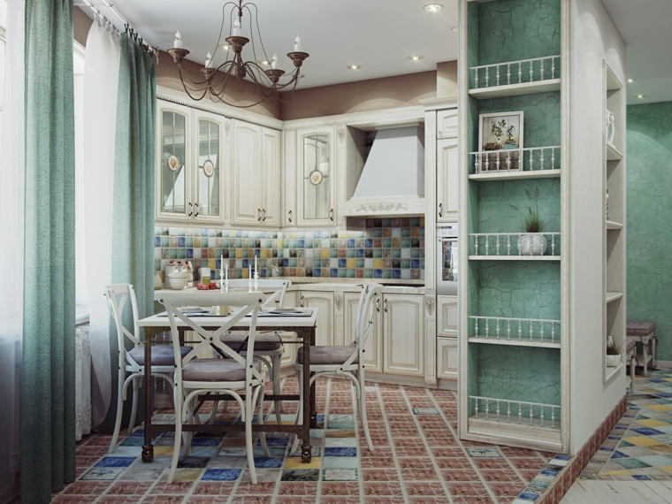 stile provenzale arredamento cucina mobili legno