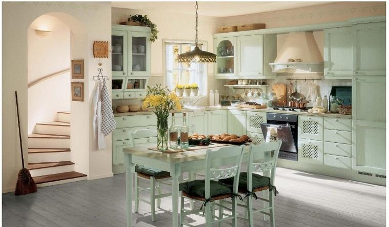 stile provenzale cucina mobilio color pastello