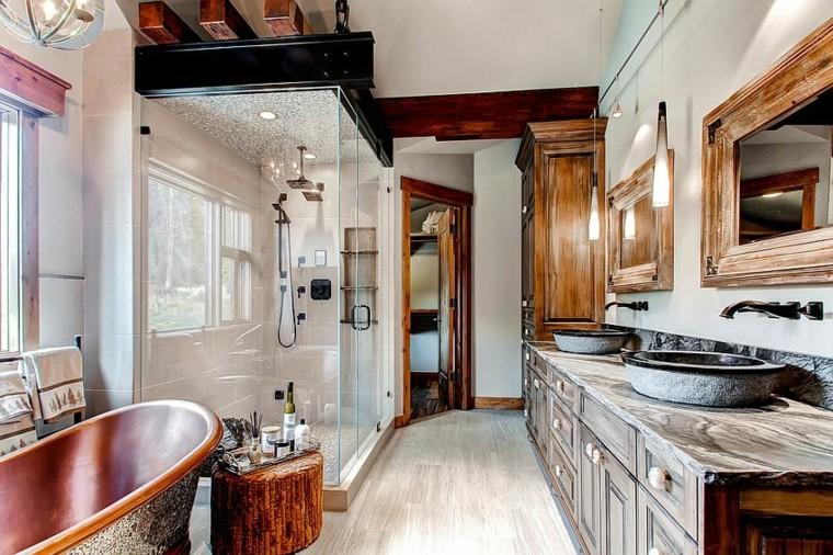 stile rustico arredo bagno proposta originale