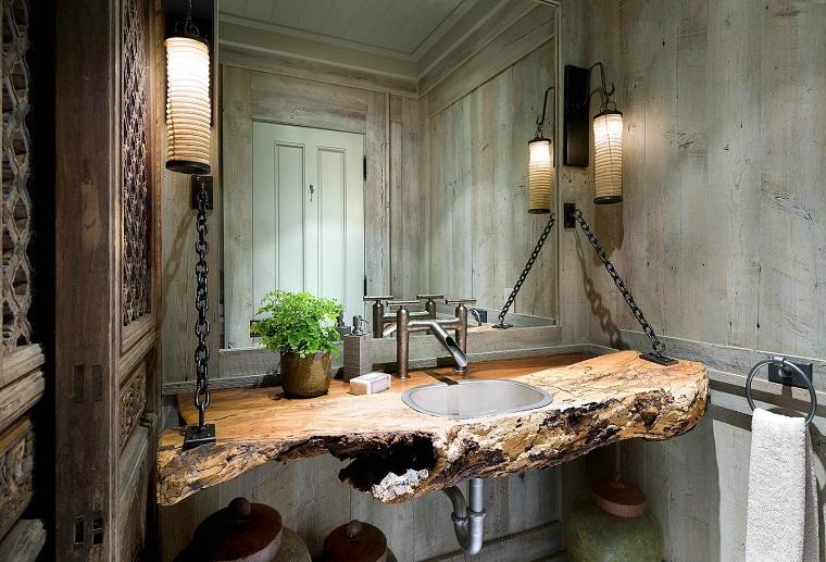 stile rustico proposta lavabo bagno