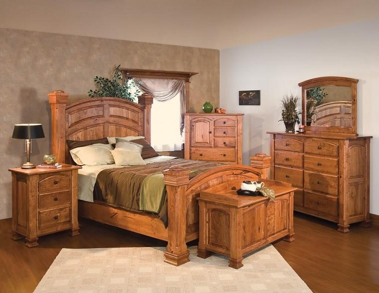 stile rustico set mobili camera legno
