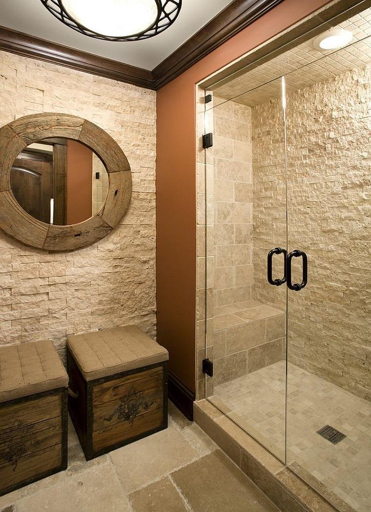 Bagni in pietra suggerimenti originali per il rivestimento dal design rustico - Arredo bagno con doccia ...