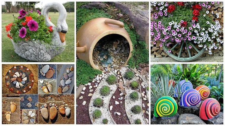 Decorazioni giardino e tante idee creative fai da te per - Idee per decorare il giardino ...