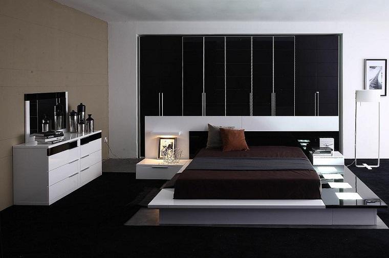 zona notte design moderno tonalita colore scuro