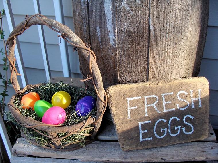 addobbi di pasqua idea uova colorate