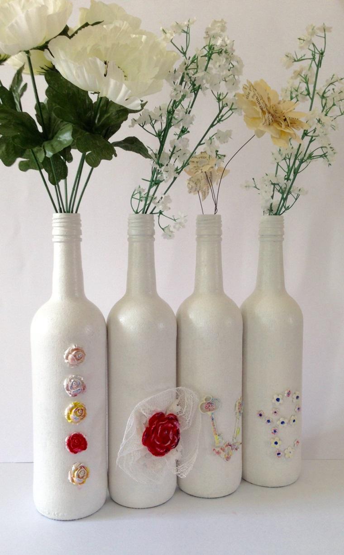 addobbi fai da te bottiglie vetro colorate