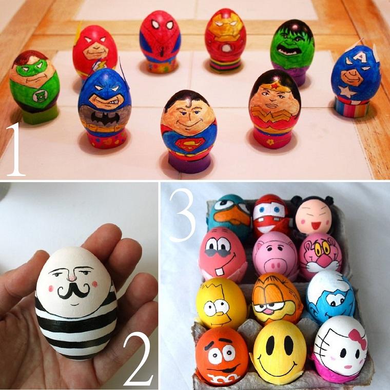 addobbi pasquali fai da te uova bambini