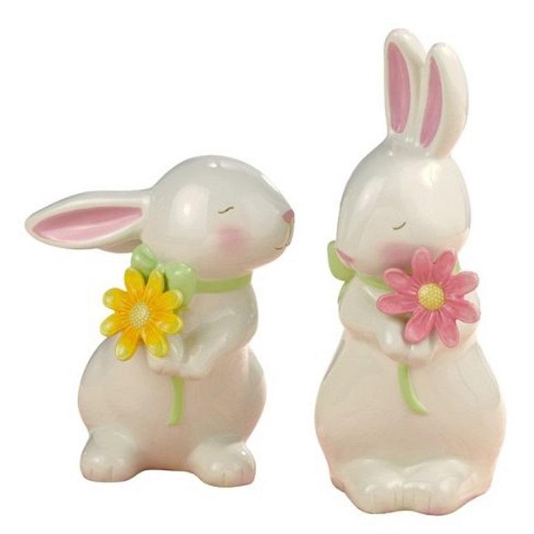 addobbi primavera idea due graziosi coniglietti
