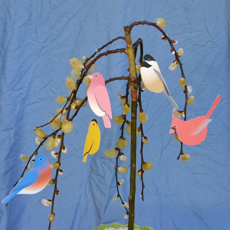 addobbi primavera proposta uccellini