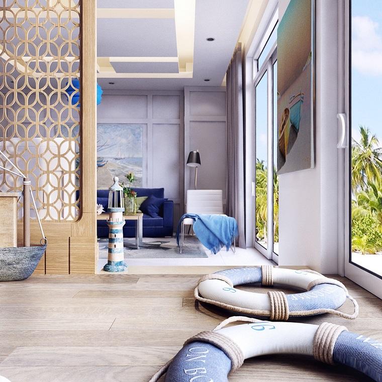 ambiente particolare parete divisoria legno