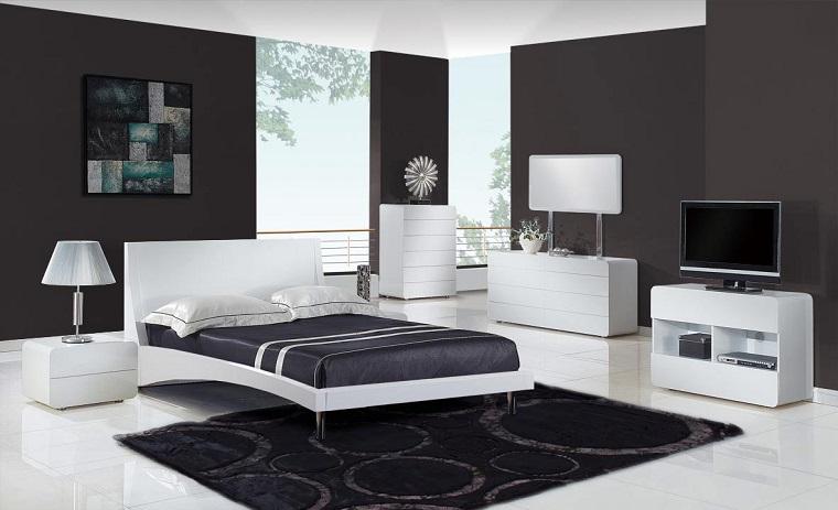 arredamenti moderni camera letto bianca