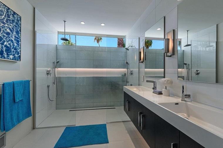 arredamento bagno stile moderno mobile sospeso