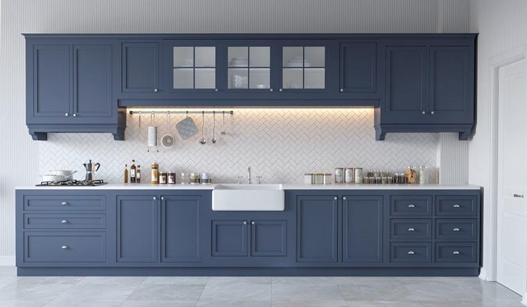 arredamento classico cucina bianco grigio