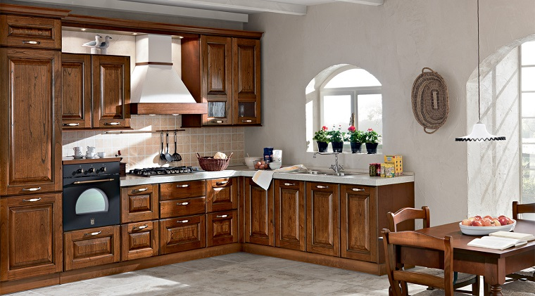 Arredamento country voglia di campagna in tutta la casa - Arredamento cucina classica ...