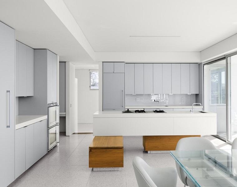 arredamento cucina design moderno bianco grigio