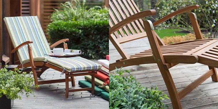 arredamento da giardino sedia legno stile classico