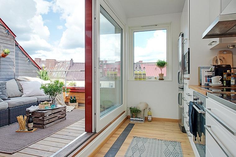 arredamento esterno stile scandinavo appartamento adorabile design