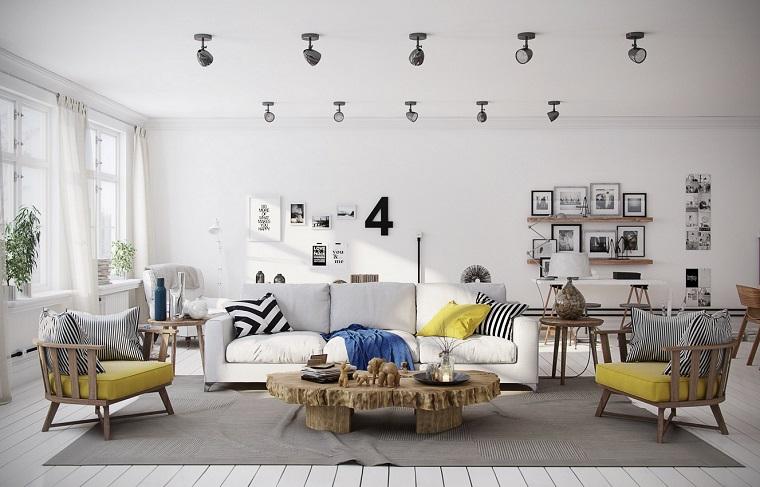 arredamento fai da te salotto design scandinavo lampade