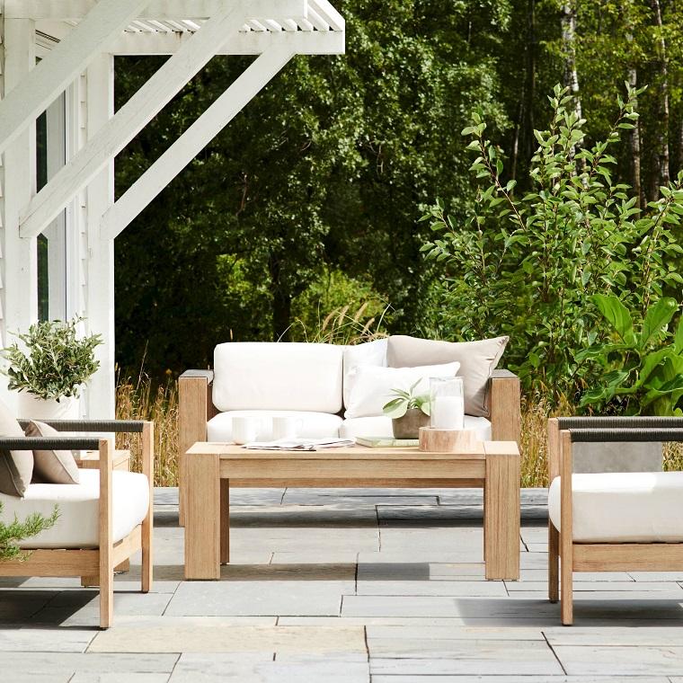 arredamento giardino set mobili legno