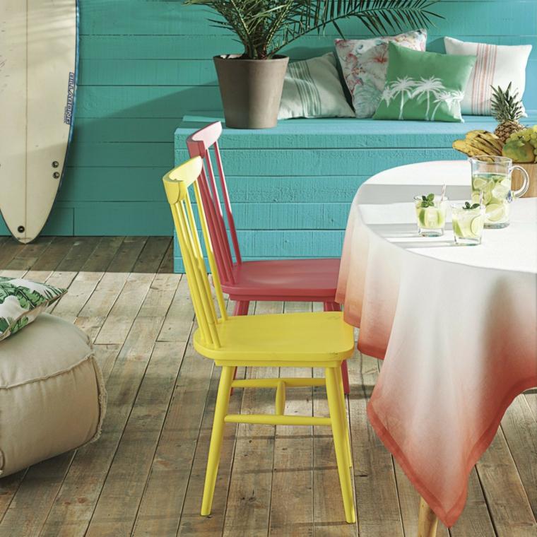 arredamento idea colorata vivace design interno casa