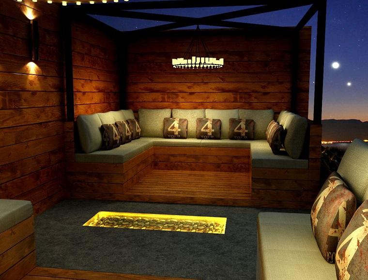 arredamento per esterni design rustico mobili legno
