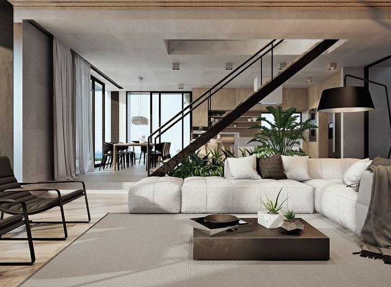 arredamento soggiorno elegante design moderno scale