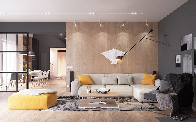 arredamento stile nordico pavimento pareti parquet
