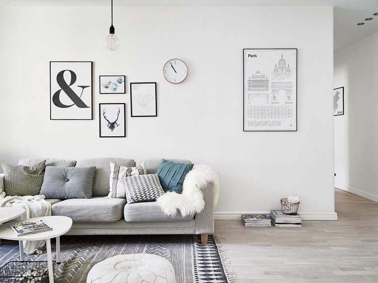 arredamento stile nordico tonalita grigio