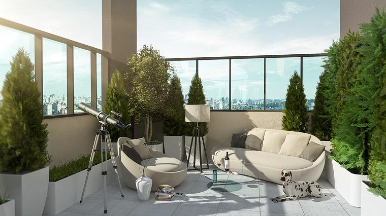 Arredare terrazzo suggerimenti originali per il vostro outdoor - Recinzione terrazzo ...