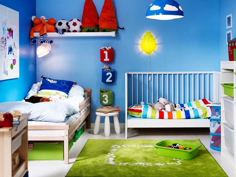 Cameretta Arancione E Blu : Colori pareti camerette: tonalità idee e accostamenti di tendenza