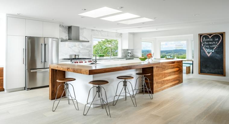 arredare casa moderna cucina inserti legno design