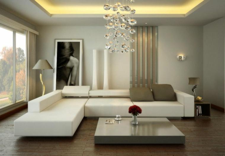 arredare casa moderna decorazioni soggiorno lampadario