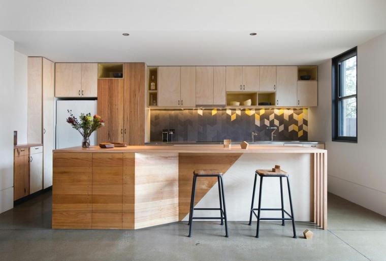 arredare casa moderna soluzione cucina mobili legno