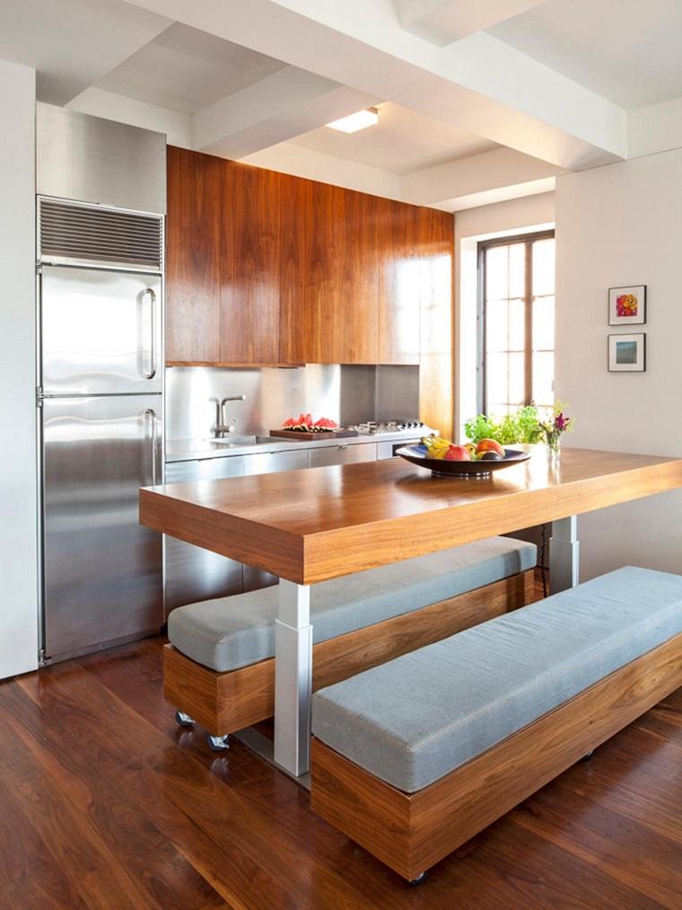 Cucina piccola 24 soluzioni di design per ottimizzare lo - Tavoli da cucina per piccoli spazi ...