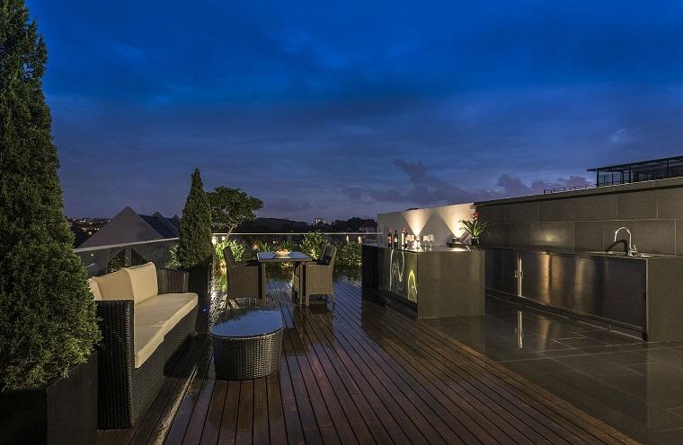 arredare il balcone proposta particolare originale moderna