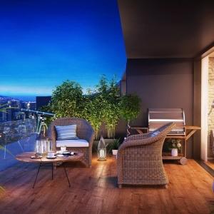 1001 idee per arredare il balcone piccolo con accenti di for Arredo per terrazzo esterno