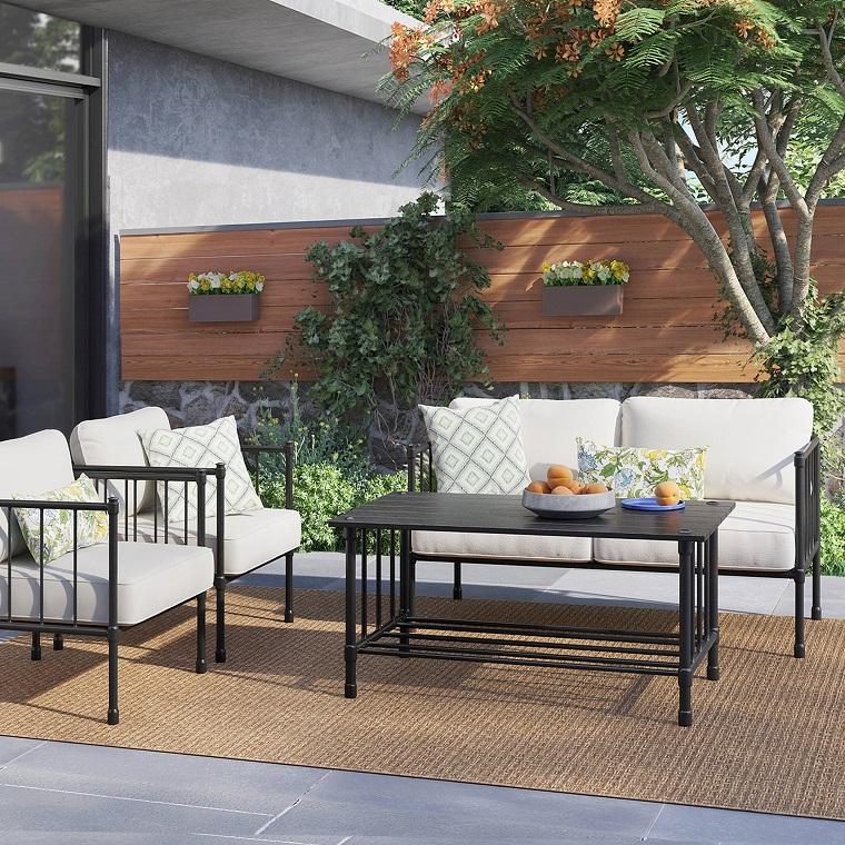 arredmento da giardino set mobili ferro battuto
