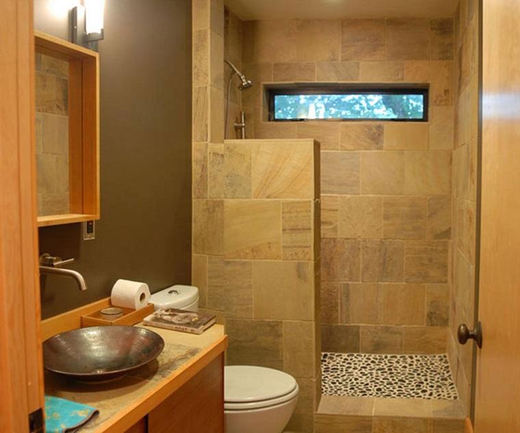 arredo bagno moderno piccole dimensioni lavabo rame