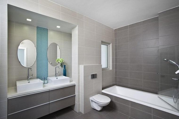 Bagno moderno 100 idee e soluzioni di design per un - Bagno con due lavabi ...