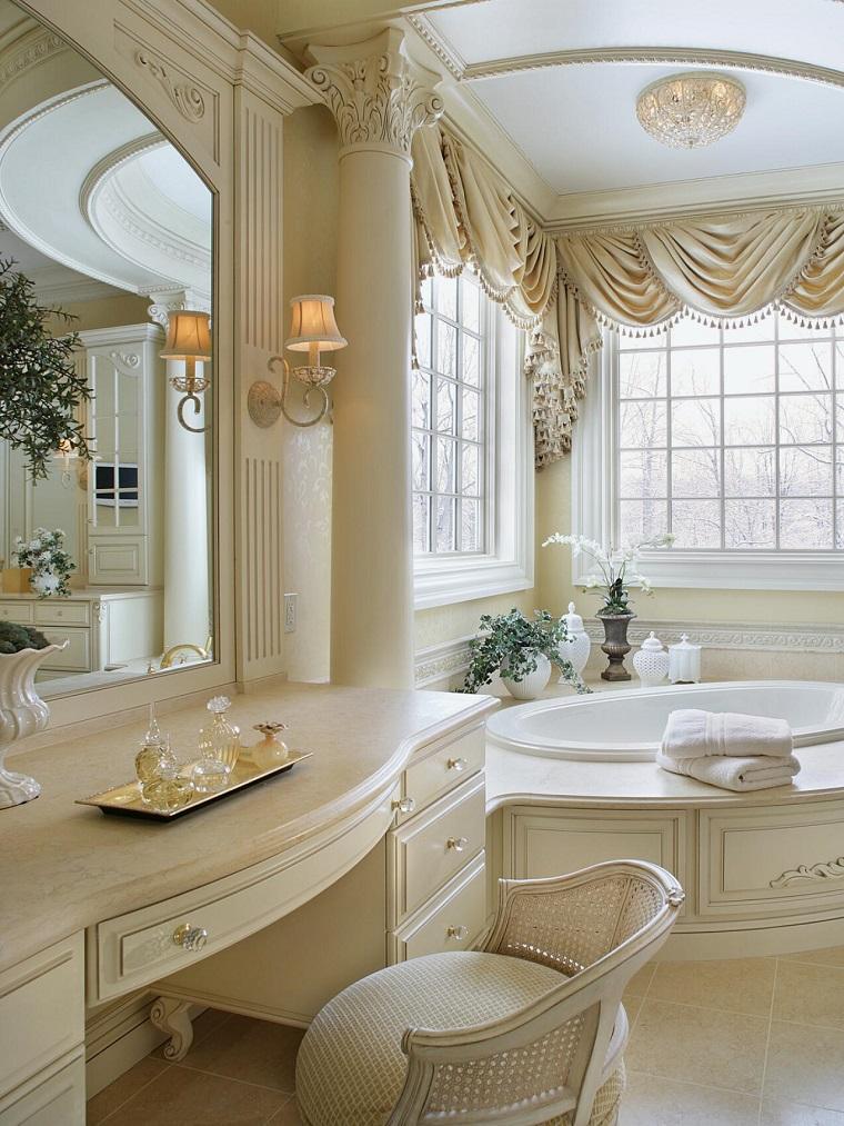 arredo bagno stile elegante tonalita avorio