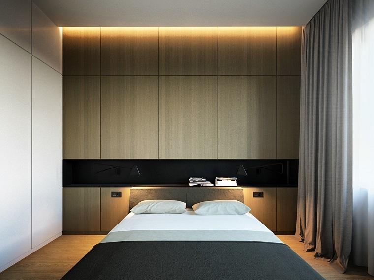 arredo minimal idea camera letto armadio parete