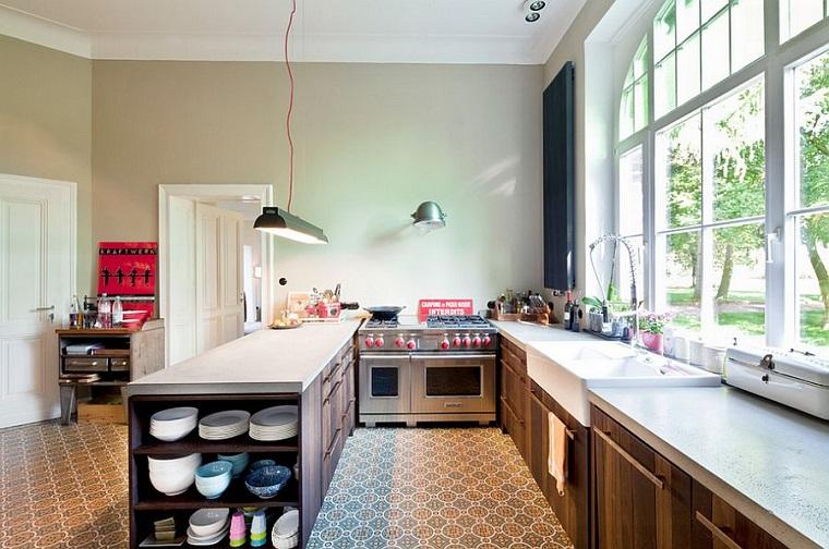 arredo stile industriale cucina mobili legno