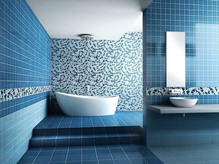 bagni con mosaico idea interessante ambiente favola