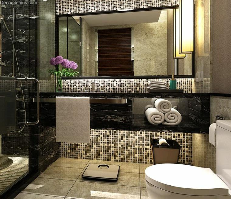 bagni con mosaico proposta originale interessante chic