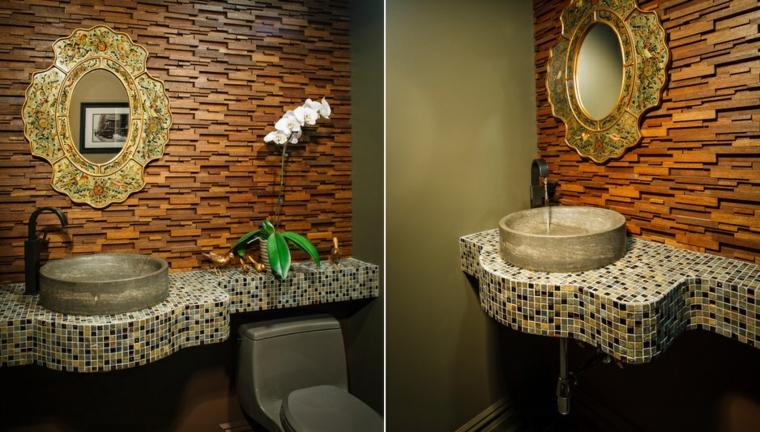 bagni con mosaico suggerimento chic originale moderno