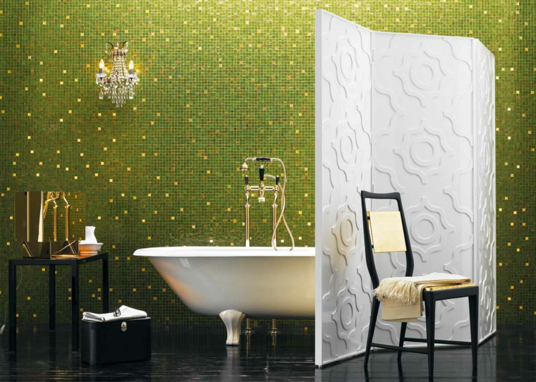 bagni con mosaico suggerimento moderno fresco vivace