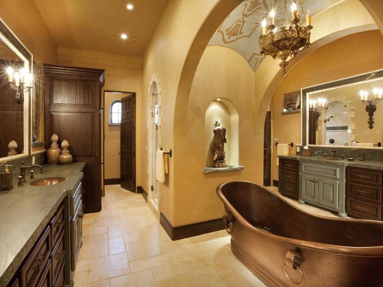 bagni eleganti composizione vasca lussuosa