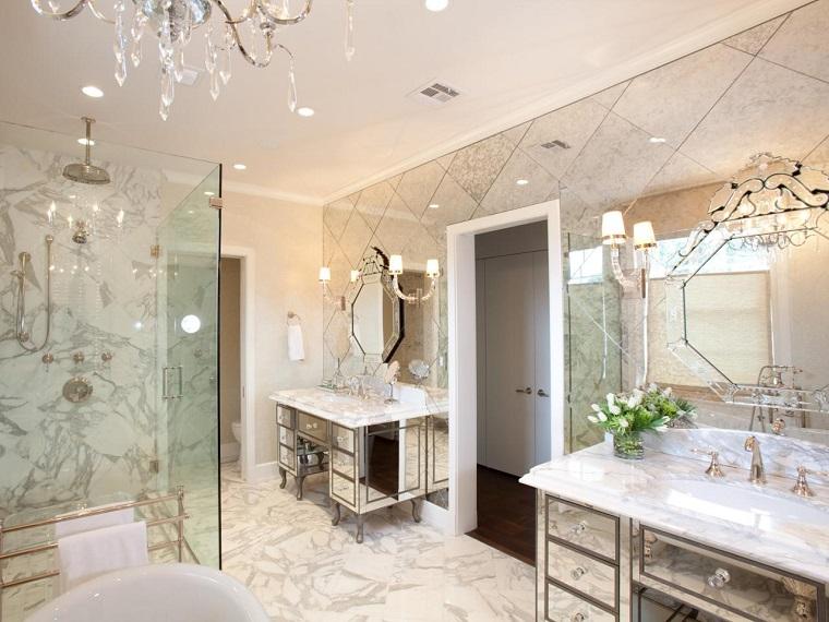 bagni eleganti proposta bianco grigio