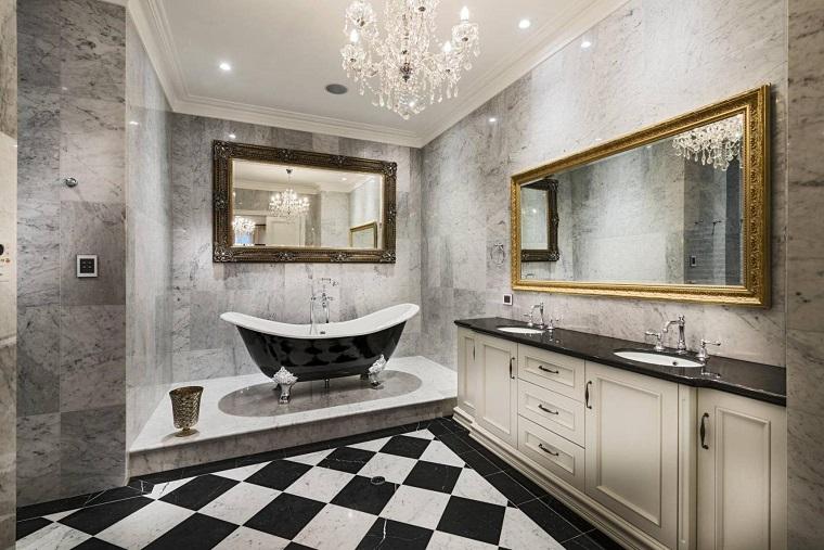 bagni eleganti soluzione bianco nero