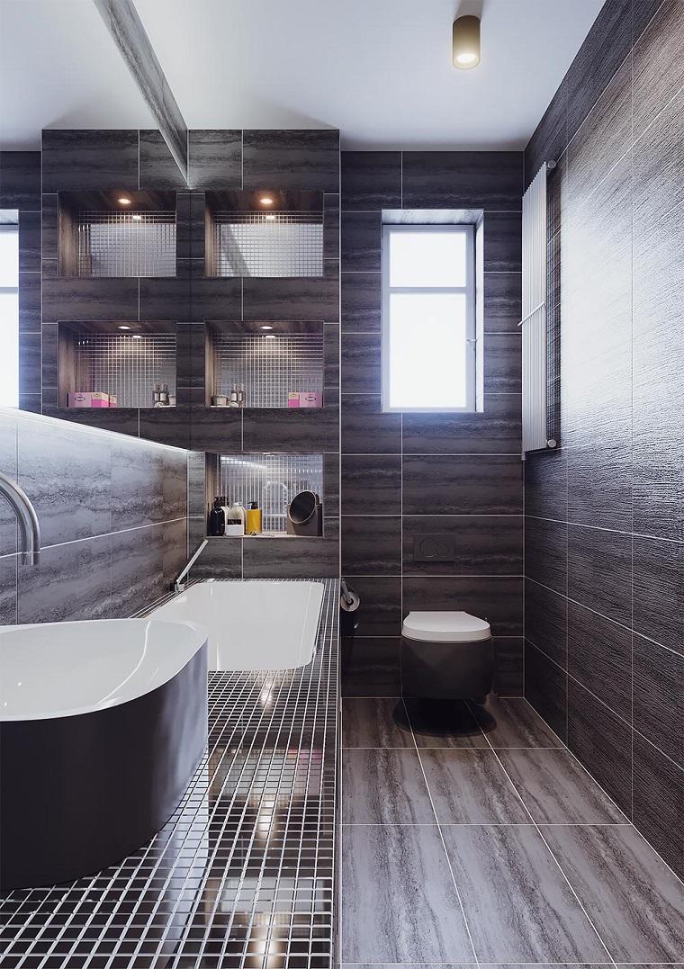 Bagni moderni piccoli ecco come arredarli con soluzioni - Piastrelle design moderno ...
